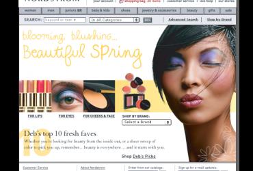 Nordstrom.com Beauty Category Design