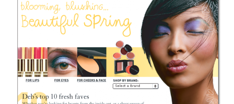 Nordstrom.com Beauty Category Design