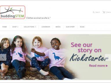 Buddingstem website design and hangtags